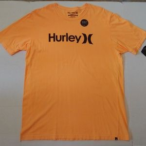 NWT Orange Hurley spellout tee